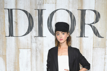 Natalia Dyer Christian Dior Couture S/S19 Cruise Collection: Photocall At Grandes Ecuries De Chantilly