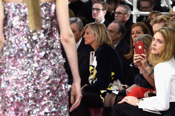 Natalia Vodianova Front Row at Christian Dior