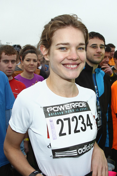 Natalia Vodianova and Keith Tyson pose before they Run the