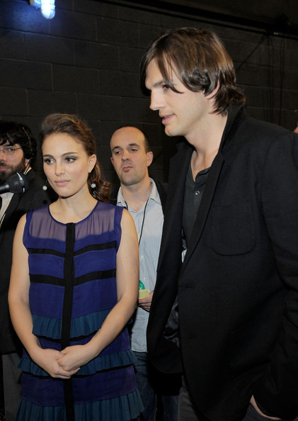 Actress Natalie Portman (L) and actor Ashton Kutcher attend the 2011