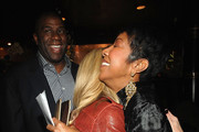 Magic Johnson, Shawn Southwick-King and Natalie Cole attend Natalie Cole's 60th Birthday Party on February 1, 2010 in Beverly Hills, California.