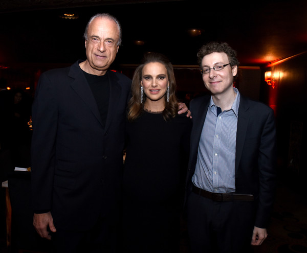 2016 Los Angeles Dance Project Gala at the Theater at the Ace Hotel [la dance project founding,event,night,fun,smile,photography,suit,formal wear,flash photography,natalie portman,nicholas britell,charles fabius,the theater at the ace hotel,ace hotel downtown la,los angeles,california,the theatre,los angeles dance project gala]