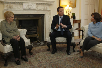 Natasha Kaplinsky David Cameron Hosts Holocaust Survivors at a Downing Street Tea