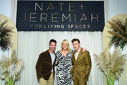 Nate Berkus, Marjorie Gubelmann and Jeremiah Brent attend Nate + Jeremiah for Living Spaces Fall 2019 Collection Media Event at Glasshouse Chelsea on September 12, 2019 in New York City.