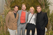 (L-R) Nate Berkus, Orlando Soria, Emily Henderson and Jeremiah Brent attend Nate + Jeremiah For Living Spaces at HNYPT on April 11, 2019 in Los Angeles, California.