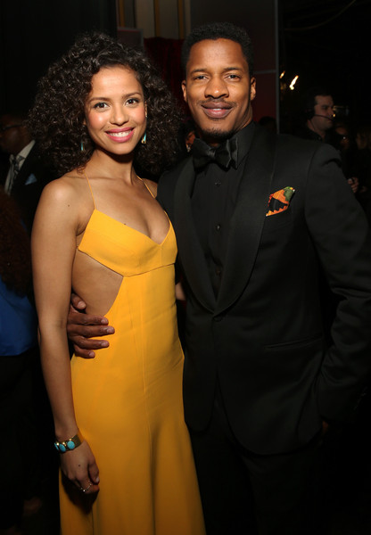 47th NAACP Image Awards Presented By TV One - Backstage and Audience [yellow,fashion,beauty,event,dress,smile,formal wear,fashion design,suit,model,gugu mbatha-raw,nate parker,audience,naacp image awards,pasadena civic auditorium,california,tv one,l]