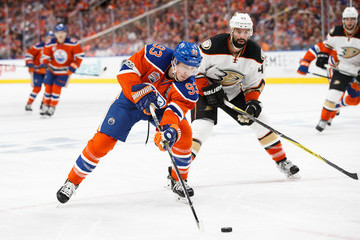 Nate Thompson Anaheim Ducks v Edmonton Oilers - Game Six