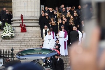 Nathalie Baye France National Tribute to Johnny Hallyday at La Madeleine Church in Paris