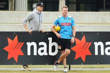 Nathan Buckley Collingwood Magpies Training Session
