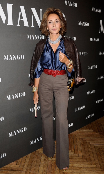 Celebrities Attend Mango New Collection Presentation in Madrid [clothing,jeans,fashion,leather,footwear,jacket,suit,textile,denim,premiere,mango new collection presentation,collection presentation,madrid,spain,circulo de bellas artes,celebrities,nati abascal]