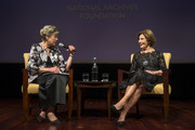 National Archives Foundation Vice Chair of Board Cokie Roberts and Former First Lady Laura Bush onstage at the National Archives Foundation Annual Gala at The National Archives on October 10, 2018 in Washington, DC.