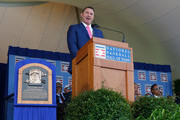 Jim Thome gives his induction speech at Clark Sports Center during the Baseball Hall of Fame induction ceremony on July 29, 2018 in Cooperstown, New York.