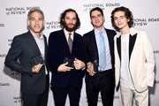 Ronald Bronstein, Josh Safdie, Benny Safdie, and Timothée Chalamet attend The National Board of Review Annual Awards Gala at Cipriani 42nd Street on January 08, 2020 in New York City.
