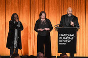 Whoopi Goldberg Jeanmarie Condon and John Ridley speek onstage during the National Board of Review Annual Awards Gala at Cipriani 42nd Street on January 9, 2018 in New York City.