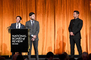 (L-R) Writers Scott Neustadter and Michael Weber accept an award onstage with actor James Franco during the National Board of Review Annual Awards Gala at Cipriani 42nd Street on January 9, 2018 in New York City.