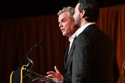 Danny Huston. and Jack Huston speak onstage during The National Board of Review Annual Awards Gala at Cipriani 42nd Street on January 8, 2019 in New York City.