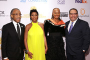 Rev. Al Sharpton, Tamron Hall, National CARES Mentoring Movement Founder Susan L. Taylor, and Dr. Michael Eric Dyson attend the National CARES Mentoring Movement 4th Annual For The Love Of Our Children Gala at The Ziegfeld Ballroom on February 11, 2019 in New York City.