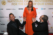 (L-R) Maxwell, Susan L. Taylor, Founder of the National CARES Mentoring Movement and Michael Eric Dyson attend the National CARES Mentoring Movement's third annual For The Love Of Our Children Gala on January 29, 2018 in New York City.  (Photo by Bennett Raglin/Getty Images for National CARES Mentoring Movement))