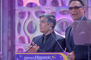 Esai Morales, Actor/Founder and Jimmy Smits, Actor/Founder attends the National Hispanic Foundation For The Arts 2018 Noche De Gala at the Mayflower Autograph Collection on September 11, 2018 in Washington, DC.