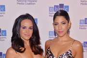 Melissa Fumero and Stephanie Beatriz arrive at the National Hispanic Media Coalition's 22nd Annual Impact Awards Gala at the Beverly Wilshire Four Seasons Hotel on February 22, 2019 in Beverly Hills, California.