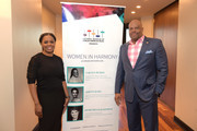 Catherine Brewton and H. Beecher Hicks, III attend the Women In Harmony event hosted by the National Museum Of African American Music at BMI on March 14, 2018 in Nashville, Tennessee.
