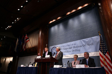 William Reilly The National Oil Spill Commission Releases Final Report On BP Oil Spill