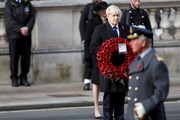Britain's Prime Minister Boris Johnson attends the National Service Of Remembrance at the Cenotaph in Westminster, amid the spread of coronavirus (COVID-19) disease on November 8, 2020 in London, England. Remembrance Sunday services are still able to go ahead despite the covid-19 measures in place across the various nations of the UK. Each country has issued guidelines to ensure the safety of those taking part.