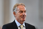 Former British Prime Minister Tony Blair arrives for a service of thanksgiving for Queen Elizabeth II's 90th birthday at St Paul's cathedral on June 10, 2016 in London, United Kingdom.