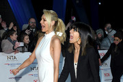 Tess Daly and Claudia Winkleman attend the National Television Awards held at the O2 Arena on January 22, 2019 in London, England.