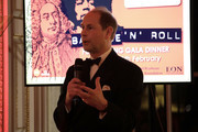 Prince Edward, Earl of Wessex speaks at the National Youth Theatre Baroque And Roll Fundraising Gala 2020 at Spencer House on February 11, 2020 in London, England.