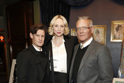 (L-R) Matt Smith, Gwendoline Christie and Giles Deacon attend the annual National Youth Theatre Fundraising evening at Cafe Royal on November 26, 2018 in London, England.