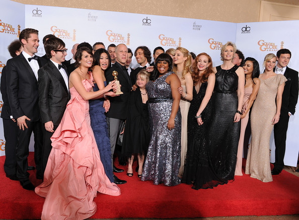 Golden Globes Naya Rivera. Mark Salling and Naya Rivera
