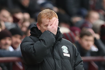 Neil Lennon Heart of Midlothian v Hibernian - Scottish Cup Fifth Round