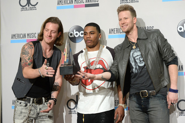 Press Room at the American Music Awards  [single of the year,event,performance,musician,nelly,singers,winners,tyler hubbard,american music awards,c,room,l,florida georgia line]
