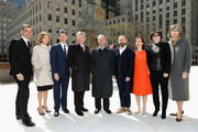 """(L-R) Frederic Levy, Patty Harris, Nicholas Baume, Jerry Spire, Michael Bloomberg, Ugo Rondinone, Susan Freedman, Jill Krauss and Kate Levin attend Nespresso announces premier partnership with """"Human Nature by Ugo Rondinone"""" Exhibit on April 22, 2013 at Rockefeller Center in New York City."""