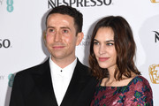 Nick Grimshaw and Alexa Chung attend the Nespresso British Academy Film Awards nominees party at Kensington Palace on February 9, 2019 in London, England.