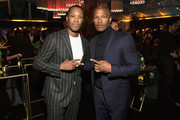 Corey Hawkins (L) and Jamie Foxx attend the Netflix 2019 Golden Globes After Party on January 6, 2019 in Los Angeles, California.