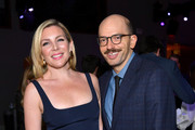 (L-R) June Diane Raphael and Paul Scheer attend the 2019 Netflix Primetime Emmy Awards After Party at Milk Studios on September 22, 2019 in Los Angeles, California.