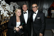 (L-R) Amy Poehler, Ted Sarandos and Fred Armisen attend the 2019 Netflix Primetime Emmy Awards After Party at Milk Studios on September 22, 2019 in Los Angeles, California.