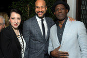 Elisa Key, Keegan-Michael Key and Wesley Snipes attend the Netflix Golden Globe Weekend Cocktail Party at Cecconi's Restaurant on January 04, 2020 in Los Angeles, California.