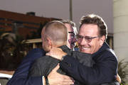 """(L-R) Aaron Paul, Vince Gilligan and Bryan Cranston attend the World Premiere of  """"El Camino: A Breaking Bad Movie"""" at the Regency Village on October 07, 2019 in Los Angeles, California."""