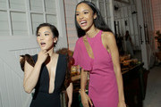 """In this handout photo provided by Netflix, Irene Choi and Erinn Westbrook attend Netflix's """"Insatiable"""" Premiere And After Party on August 9, 2018 in Los Angeles, California."""