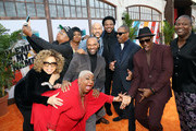"(L-R) Ruth E. Carter, Luenell, Da'Vine Joy Randolph, Mike Epps, Keegan-Michael Key, Craig Robinson, Eddie Murphy, and Tituss Burgess attend the ""Dolemite Is My Name"" premiere presented by Netflix on September 28, 2019 in Los Angeles, California."