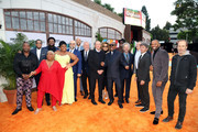"(L-R) Tituss Burgess, Ron Cephas Jones, Luenell, Craig Robinson, Da'Vine Joy Randolph, Craig Brewer, Keegan-Michael Key, Larry Karaszewski, John Davis, Ruth E. Carter, Eddie Murphy, Wesley Snipes, Scott Alexander, Ted Sarandos, John Fox, Mike Epps, and Bob Odenkirk attend the ""Dolemite Is My Name"" premiere presented by Netflix on September 28, 2019 in Los Angeles, California."