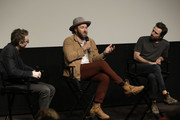 Nicholas Britell, Joel Edgerton and David Michod speak onstage at Netflix Presents 'The King' Tastemaker at The London Hotel on October 22, 2019 in West Hollywood, California.