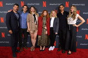 """Todd Downing, Chris Teague, Leslye Headland , Natasha Lyonne, Amy Poehler, Charlie Barnett  and Brienne Rose attend the Netflix """"Russian Doll"""" FYSEE Event at Raleigh Studios on June 09, 2019 in Los Angeles, California."""