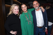 "Jane Wiseman, Drew Barrymore and Victor Fresco attend Netflix's ""Santa Clarita Diet"" Season 3 Premiere at Hollywood Post 43 on March 28, 2019 in Los Angeles, California."