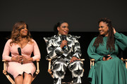 Niecy Nash, Aunjanue Ellis and Ava DuVernay speak onstage at Netflix's 'When They See Us' Screening & Reception at Paramount Theater on the Paramount Studios lot on August 11, 2019 in Hollywood, California.