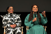 Aunjanue Ellis and Ava DuVernay speak onstage at Netflix's 'When They See Us' Screening & Reception at Paramount Theater on the Paramount Studios lot on August 11, 2019 in Hollywood, California.