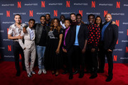 "Freddy Miyares, Michael K. Williams, Jovan Adepo, Jharrel Jerome, Caleel Harris, Niecy Nash, Asante Blackk, Chris Chalk, Justin Cunningham, Ethan Herisse, Ava DuVernay and Joshua Jackson  attend Netflix'x FYSEE event for ""When They See Us"" at Netflix FYSEE At Raleigh Studios on June 09, 2019 in Los Angeles, California."